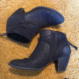 Tesori Leather Ankle boots size 7.5